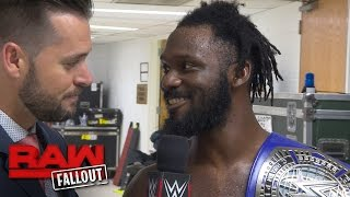 """""""The Outlandish"""" Rich Swann keeps the party rolling with another victory: Raw Fallout, Dec. 5, 2016"""