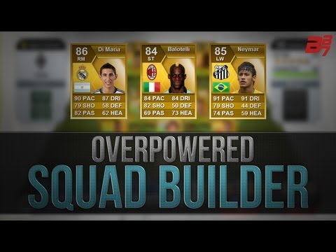 FIFA 13 Ultimate Team Squad Builder | 100K OVERPOWERED HYBRID w/ Neymar and Balotelli