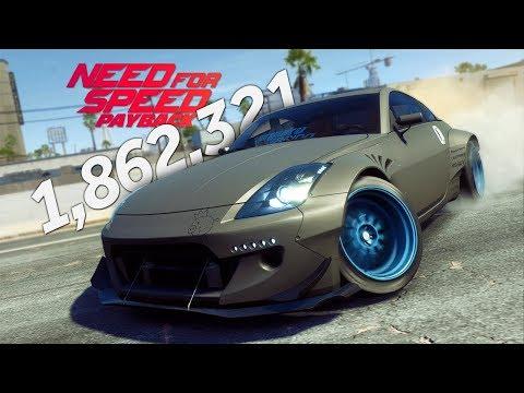 Need for Speed Payback 350Z Drifting Gameplay 1.8 Million Drift Score