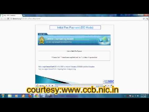 Allotment and Online Fee payment   Talking tutorial