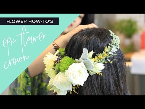 How to: Boho Bridal Flower Crown