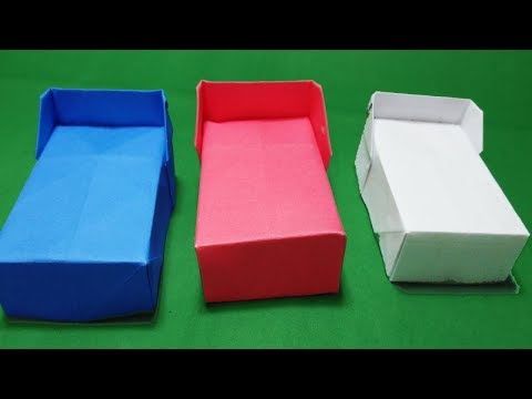 Origami Furniture#How to Make a paper Bed?#origami#paperCraft