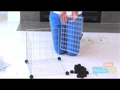 Honey-Can-Do SHF-01794, SHF-02113 and SHF-03521 6-Pack Modular Mesh Storage Cube Instruction Video