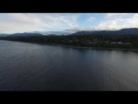 Phantom 3 Flying Vancouver island: Return home from 3km out to Sea with Phanton 3