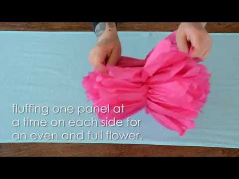 How To Assemble Tissue Paper Flower Pom Poms