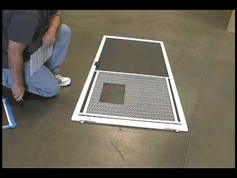 Installing The Screen Guard Pet Door By Ideal Pet Products