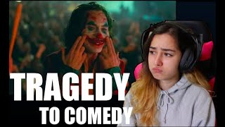 Joker, Tragedy to Comedy Reaction