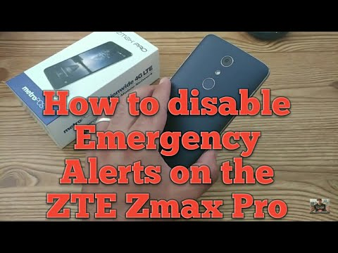 How to disable Emergency Alerts on the ZTE Zmax Pro and ZTE Blade Zmax