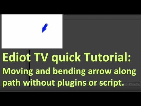 100% working After Effects Tutorial: Moving Arrow along the path NO PLUGINS OR SCRIPT REQUIRED!!!