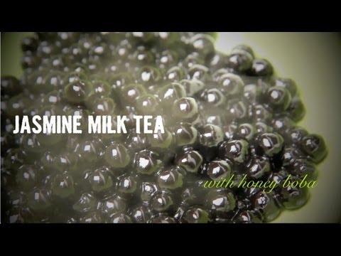 Taiwanese Bubble Tea - Jasmine Milk Tea with Boba
