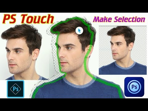 PS Touch : Make Selection of any Object, and make a .png transparent photo (Croping)Tutorial
