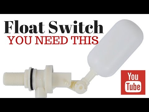 float switch for making saltwater at home: saltwater aquarium maintenance