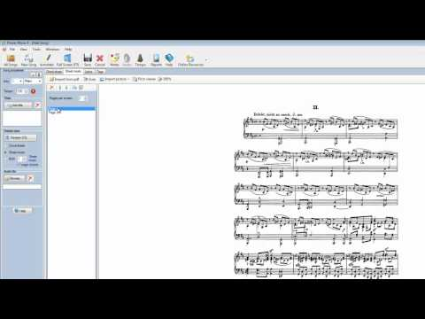 Import Sheet music from PDF
