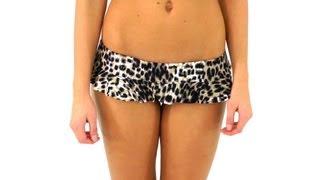 Body Glove Cheetah Skirt Rider Bottom | SwimOutlet.com
