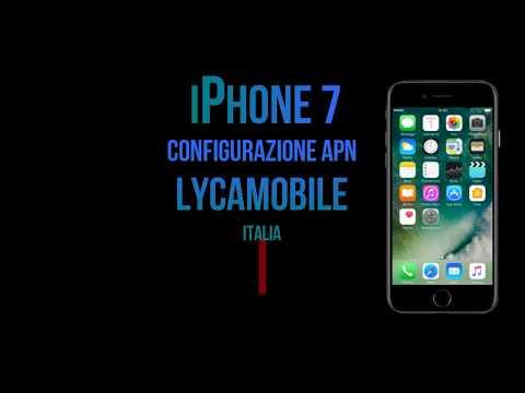 Lycamobile configurazione apn internet iPhone7