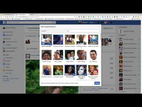 Facebook Acquaintance List