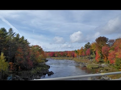 Portland to Bar Harbor, Maine - Scenic Drive, October 2016 Part 1 of 2