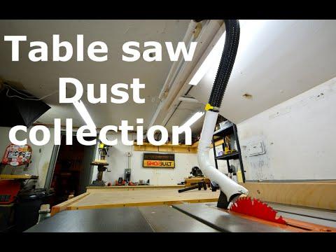 Shopbuilt - Overhead table saw dust collection