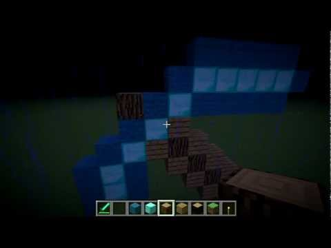 How to build a Diamond Pickaxe Statue [EASY]- MineCraft