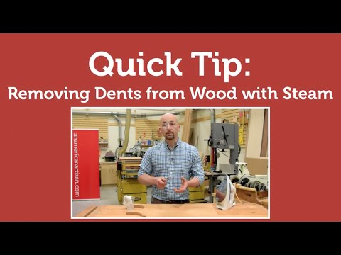 Quick Tip: Removing Dents from Wood with Steam