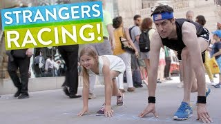 Strangers Compete in a Spontaneous Sidewalk Race | PDA with Ben Aaron