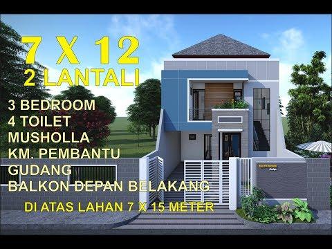 8200 Koleksi Gambar Rumah Minimalis 2 Lantai 7 X 12 Terbaik