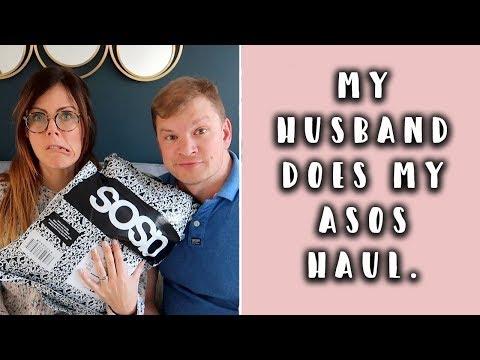 HUSBAND DOES MY ASOS HAUL