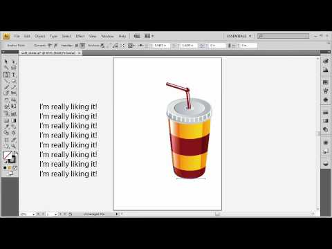 Adobe Illustrator CS4 Advanced Make Type Conform to Any Vector Shape