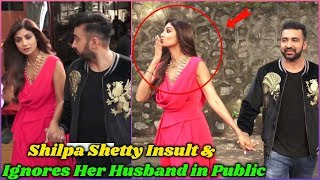 Shilpa Shetty Ignoring & Insulting Her Husband in Public