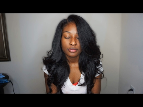 Traditional sew in + layers and curls