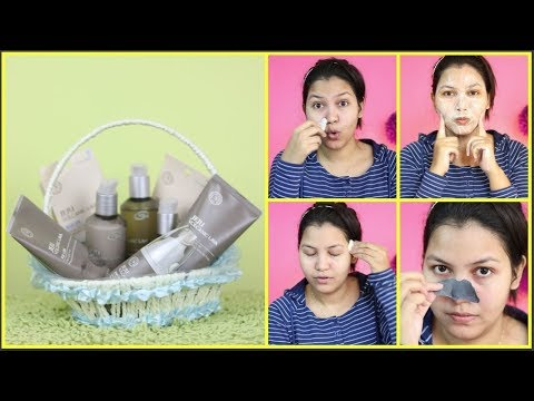 korean skin care/the face shop JEJU VOLCANIC LAVA Range review & demo/NDIANGIRLCHANNEL TRISHA