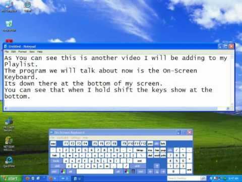 The On-screen Keyboard Program