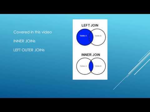 SQL TUTORIAL - JOINs