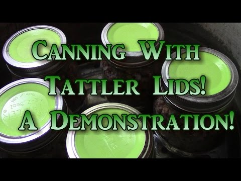 Canning With Tattler Lids  a Demonstration