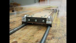 Sliding table attachment Part 1 - building the sliding cart