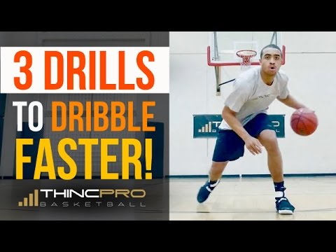 How to: 3 Drills to DRIBBLE FASTER! (Pro Moves for QUICKER HANDLES in Basketball)