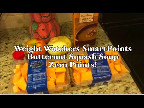 Weight Watchers SmartPoints Butternut Squash Soup - 0 Points!