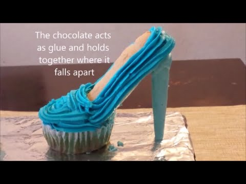 How to make High heel Stiletto cupcakes