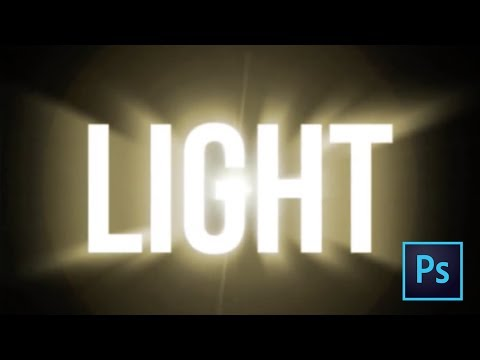 Photoshop Tutorial :  Light text effect (HD)