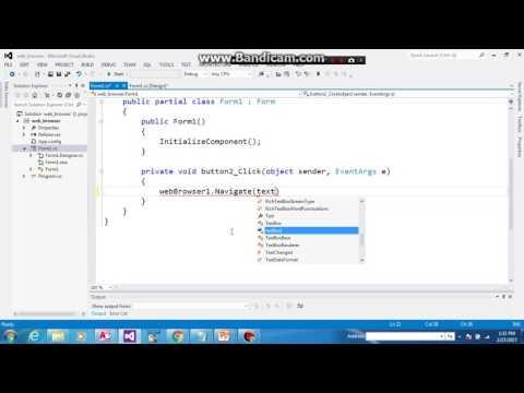 create sample Web browser like google or firefox with C#  by chyawan jalal