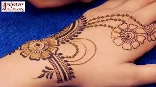 How to Apply New Latest Henna Mehndi Designs for Hands | Jewelry Mehndi Weddings 2017 #133 by Sonia