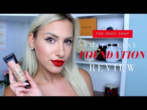 The Body Shop Matte Clay Skin Clarifying Foundation Review ♡ Stefy Puglisevich