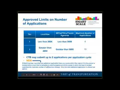 SMART SCALE Pre-Application Training – February 13, 2018