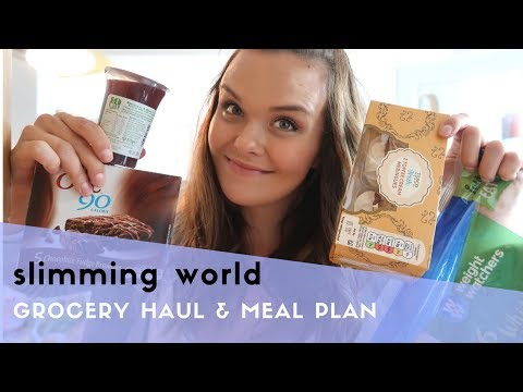 SLIMMING WORLD GROCERY HAUL & MEAL PLAN - FAMILY FRIENDLY TOO!