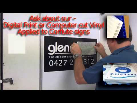 How to fit vinyl signage to Vehicle Magnet