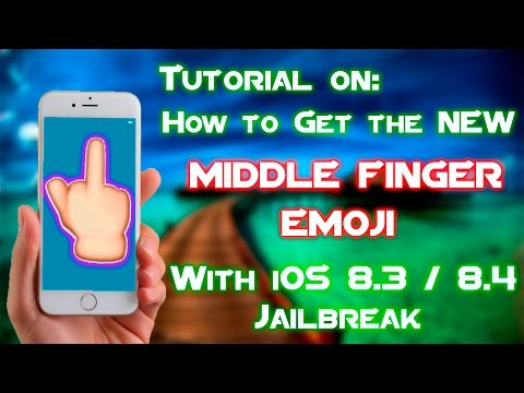 Tutorial: How to Get MIDDLE FINGER Emoji on iOS 8.3/8.4 Jailbreak