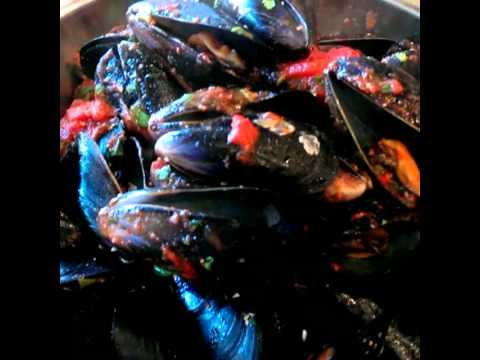 Hot chilli mussels