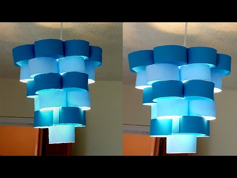 DIY lamp for pendant light - learn how to make a lampshade - DIY Lampshade out of paper 2018
