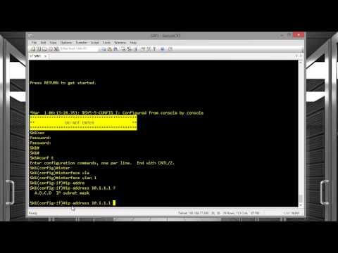 CCENT - Video 7 - Basic Management Configuration