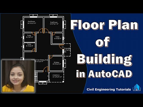 How to draw a Floor Plan of a Building in AutoCAD || Building #2